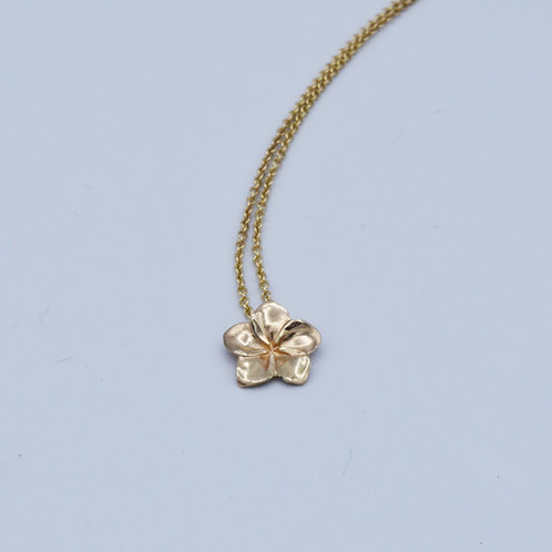Yellow Gold Frangipani Flower Pendant in 9ct gold
