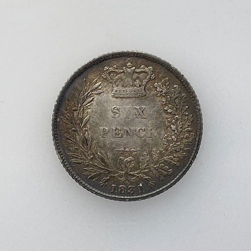 1831 Sixpence, William IV, Decent grade.