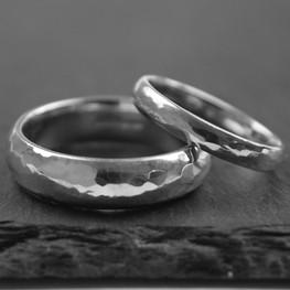 Hammered Finish Wedding Rings