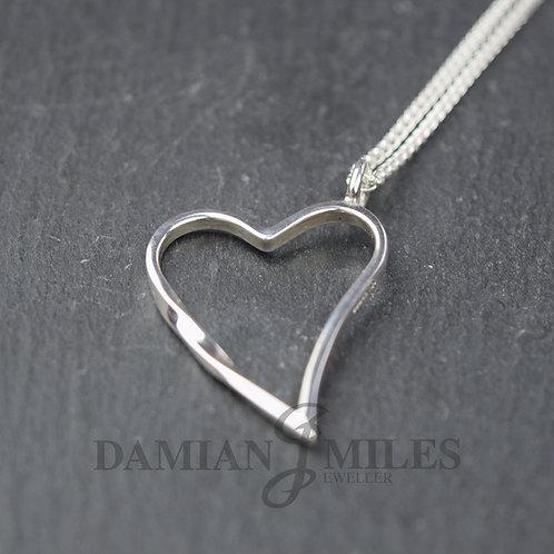 Sterling Silver Eternal Heart pendant.