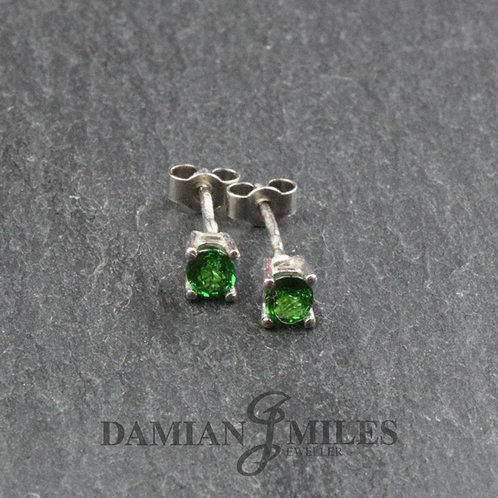 Tsavorite Garnet Stud Earrings