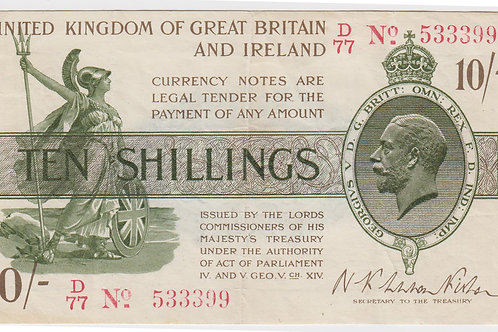 Treasury 10 Shillings, Warren Fisher