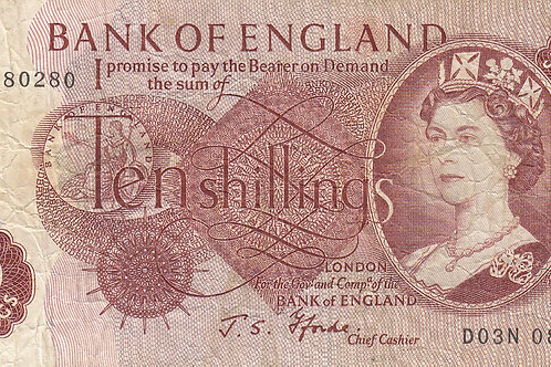 J. B. Page 10 Shilling Note. LAST SERIES