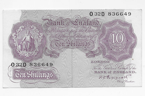 K. O. Peppiatt 10 shilling Mauve O32D