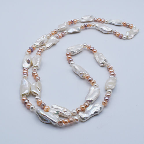 Keshi and Freshwater Pearl necklace