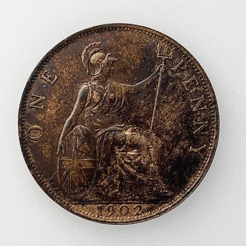 1902 Low Tide Penny, Edward VII