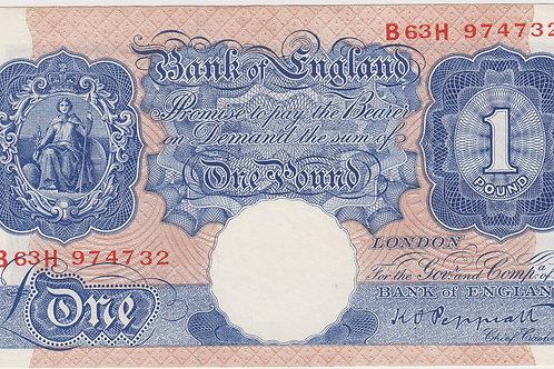 K. O. Peppiatt One Pound Blue B63H