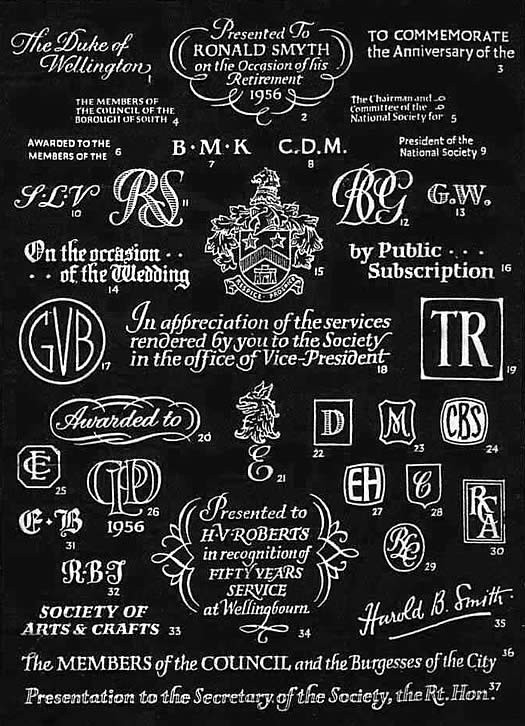 National Association of Jewellers Engraving Style Card