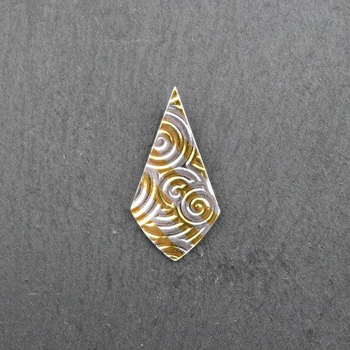 Keum Boo Fine Silver Tie Pendant.
