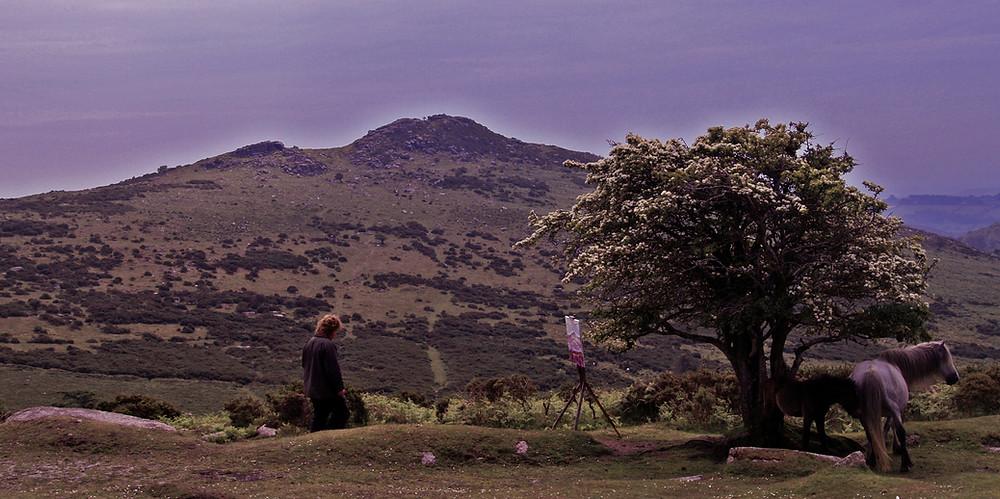 Danny Holmes-Adams Painting on Dartmoor