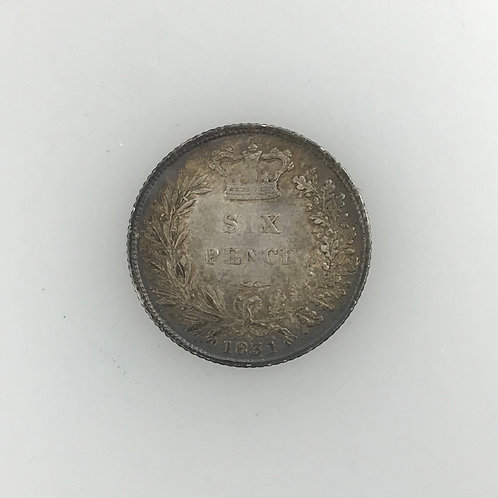 1831 Sixpence, William IV, Decent grade.