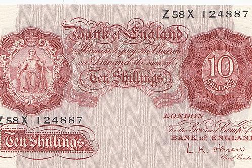 L.K. O'Brien 10 shilling note 1955 LAST SERIES