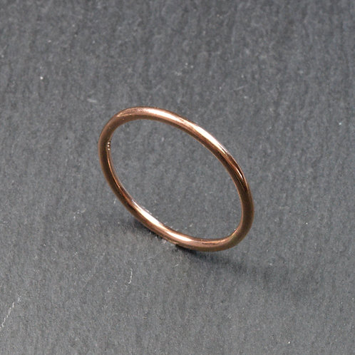 100% Recycled Rose Gold Stacker Ring
