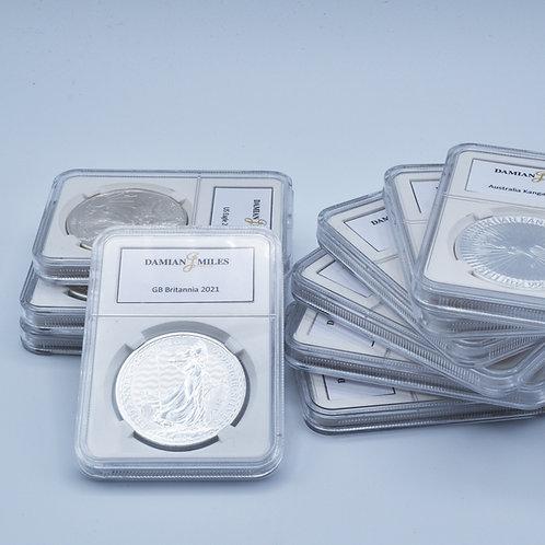 Coin Slab for Silver Bullion Coins