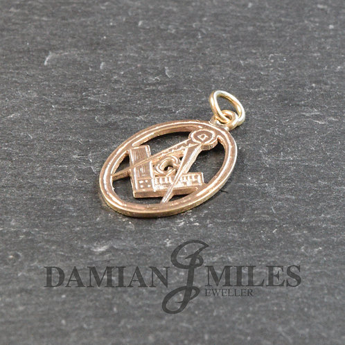 Masonic Charm in 9ct gold.