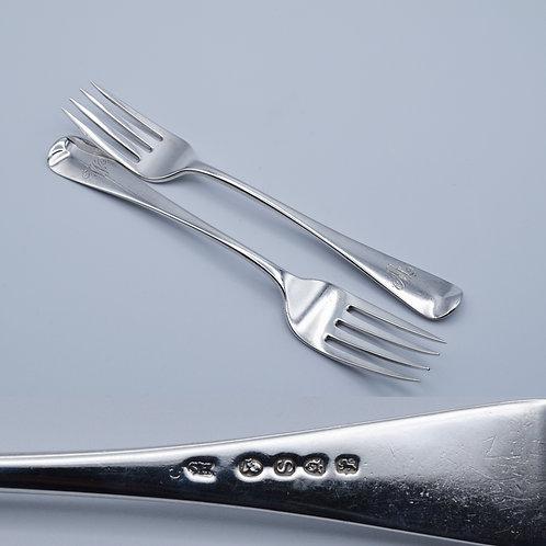 "Pair of ""Salad"" forks"