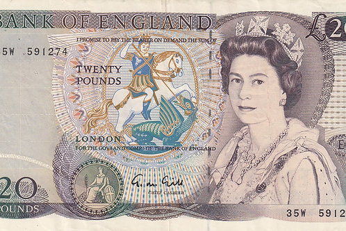 G M Gill £20 note 1988.