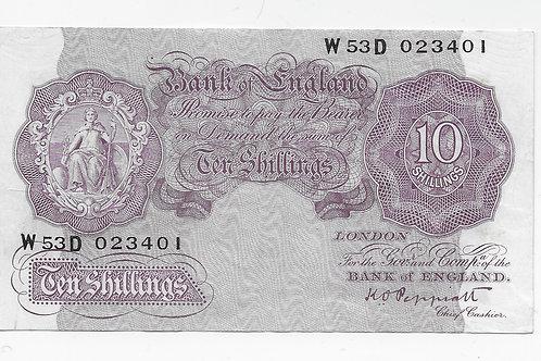 K. O. Peppiatt 10 shilling Mauve W53D