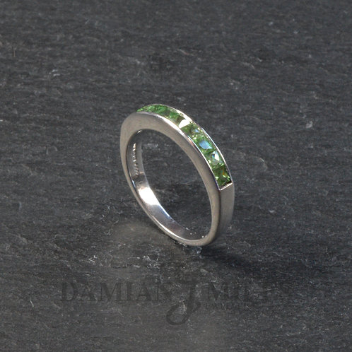 Tsavorite Garnet Half Eternity ring.