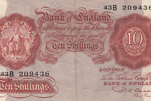 P.S. Beale 10 shilling note 1950. LAST SERIES