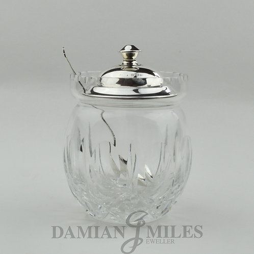 Vintage Silver and Glass Preserve Jar