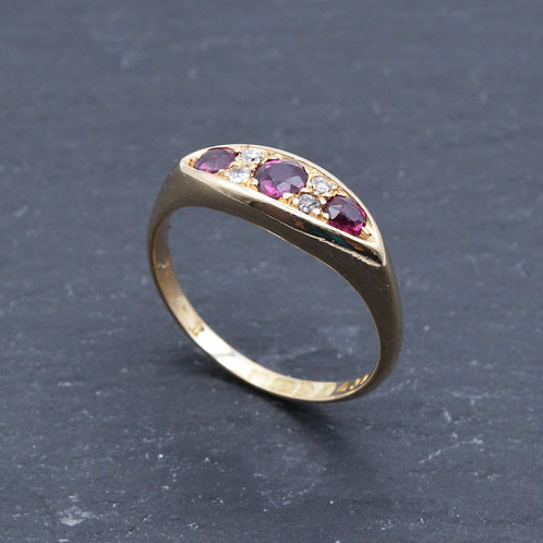 Edwardian Ruby and Diamond Ring