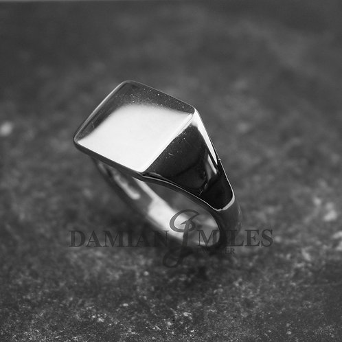 Square Signet Ring. Gents Sterling Silver signet ring.