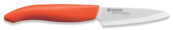 Hámozó kés 7,5cm Fehér penge Narancs nyél