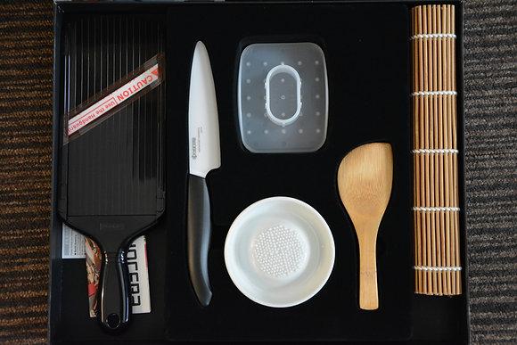 Sushi Starter Set, 11cm kerámiapengés késsel