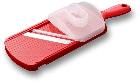 'Julienne' szeletelő kerámia késsel és fogakkal Piros
