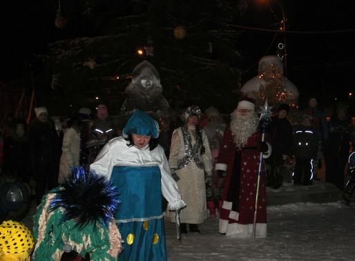 Открытие Снежного городка в п. Калья