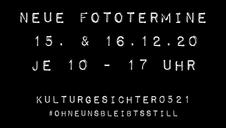 NEUE FOTOTERMINE STEHEN FEST