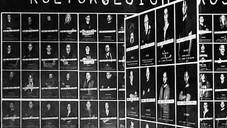 KULTURGESICHTER PROJEKTION IN DER LOBBY DER VOLKSBANK AM KESSELBRINK