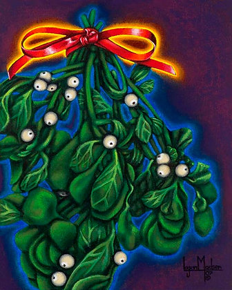 LMFA Holiday Art, MISTLETOE, Photo Print: LIMITED Edition, By Logan Madsen