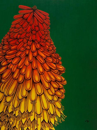 LMFA Flower Art, RED HOT POKER, Giclee Print: LIMITED Edition, By Artist, Logan Madsen