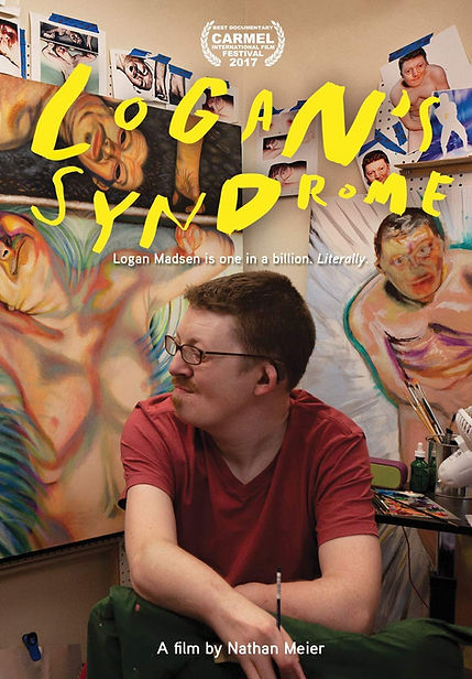 Award-Winning Documentary LOGAN'S SYNDROME DVD Cover, Available on DVD and STREAMING NOW! Featuring Artist, Logan Madsen