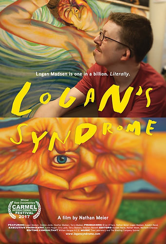 Award-Winning Documentary LOGAN'S SYNDROME Poster from Carmel Film Festival 2017 Artist Logan Madsen & Paintings SHOP LMFA