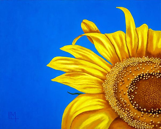 LMFA Flower Art, SUNFLOWER, Photo Print: OPEN Edition, of a Logan Madsen Painting, 5x7.