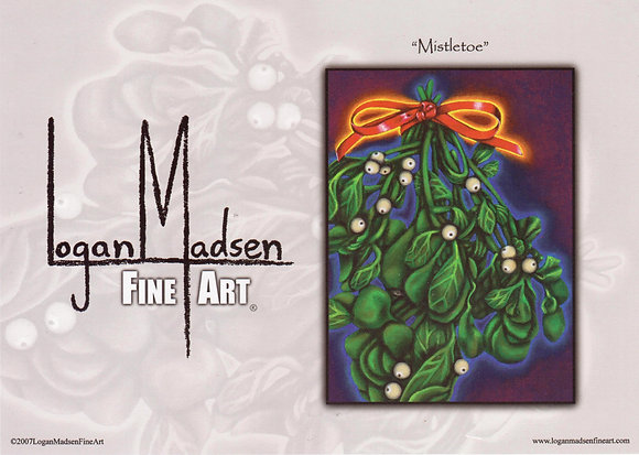 Mistletoe, Holiday Cards copied from Logan Madsen's original paintings.