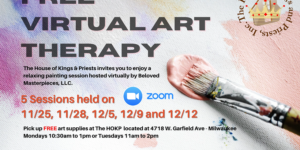 FREE Virtual Art Therapy - Wed 12/9