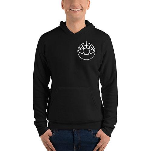 Unisex hoodie | White One-Eyed Disco Logo