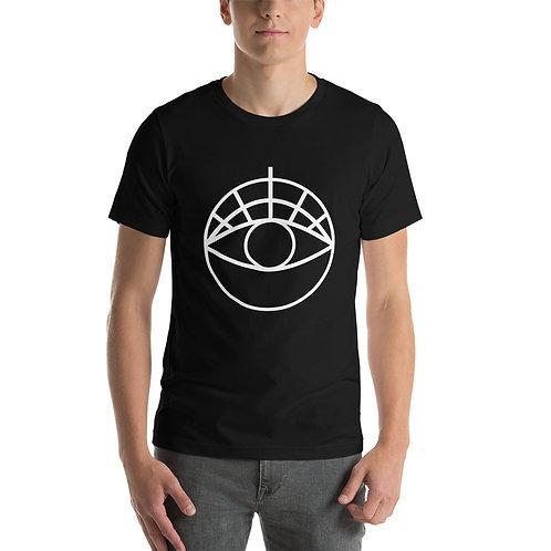 Short Sleeve T | White One-Eyed Disco Logo
