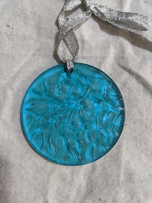 Lalique 1989 Noel Ornament - Blue