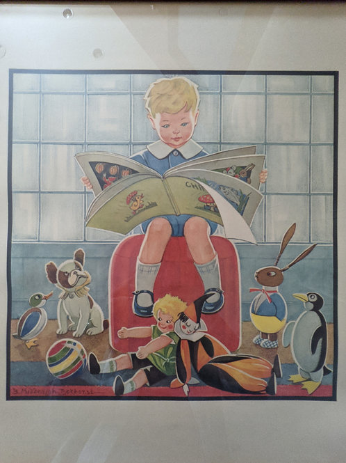 Dutch Childrens Artwork by B. Midderigh - Bokhorst