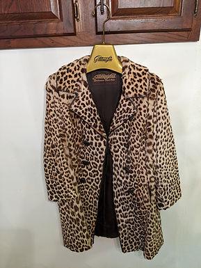 Vintage Leopard print Real Fur Coat Short Fur Beautiful Unique