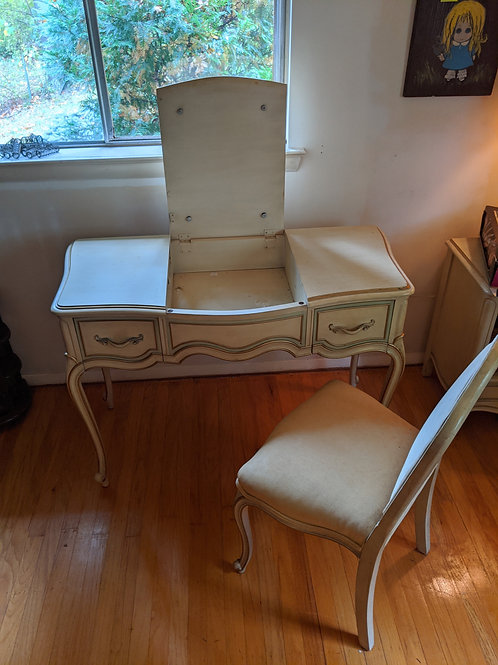 Vintage Drexel Touraine Vanity & Chair