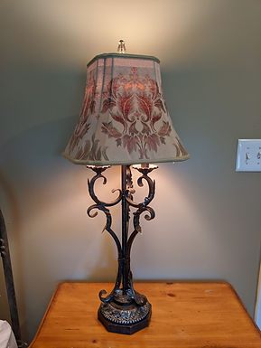 Mid-Century French Provincial Metal Table Lamps