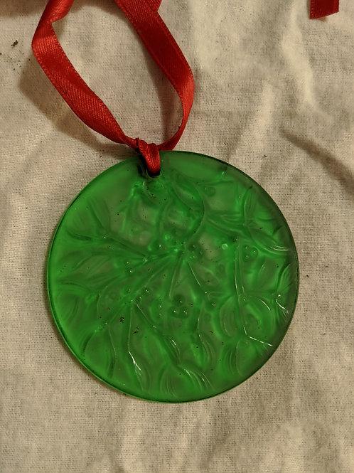 Lalique 1990 Noel Ornament - Green