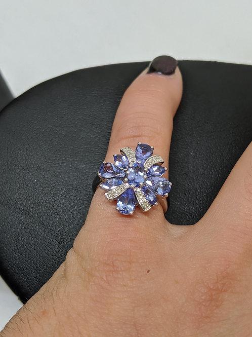 Beautiful Stone Ring 925 Sterling