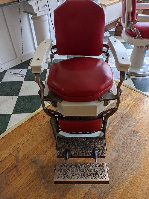 Koken Barber Chair no Headrest